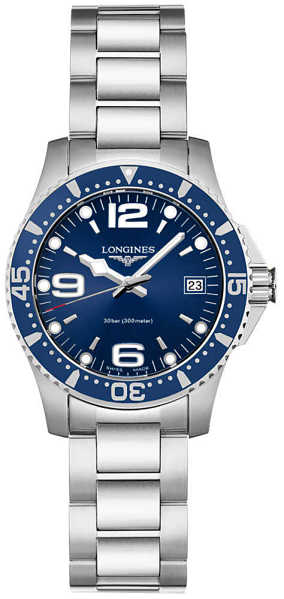 Longines Hydroconquest Blue Dial Women's Watch L3.340.4.96.6 Blue USA - GOOFASH - Womens WATCHES