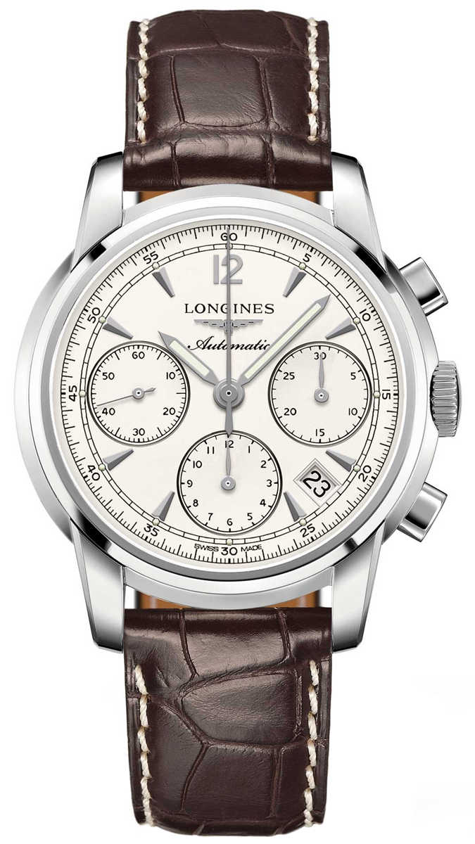 Longines The Saint-Imier Automatic Men's Watch L2.752.4.72.0 Silver USA - GOOFASH - Mens WATCHES