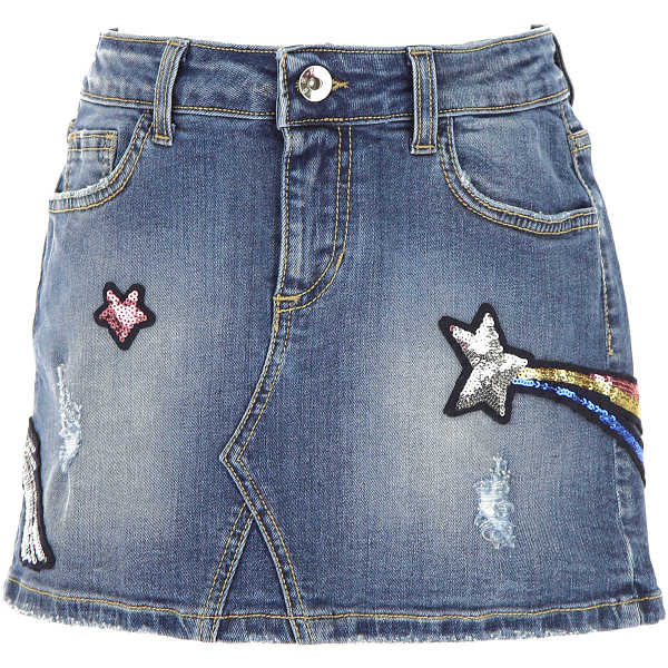 MSGM Kids Skirts for Girls Denim Blue Canada - GOOFASH - Womens SKIRTS