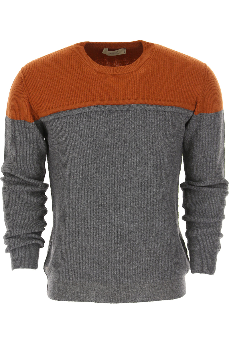 Maison Flaneur Sweater for Men Jumper Rust Canada - GOOFASH - Mens SWEATERS