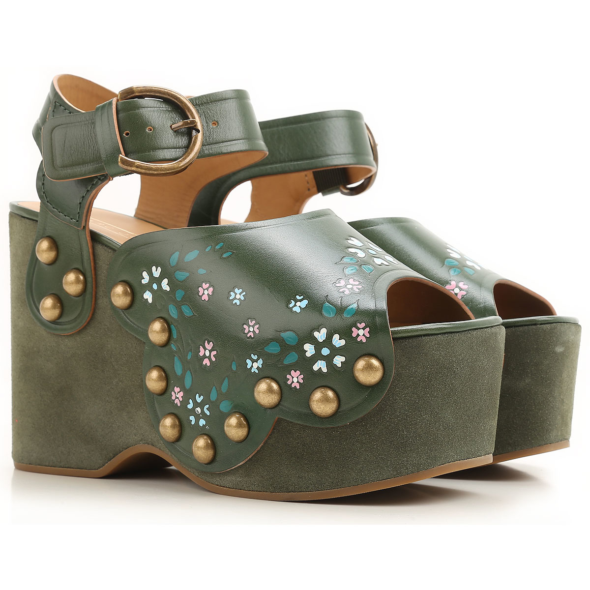Marc Jacobs Wedges for Women Green Canada - GOOFASH - Womens HOUSE SHOES