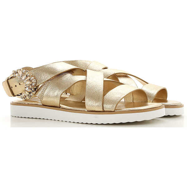 Michael Kors Sandals for Women Pale Gold Canada - GOOFASH - Womens SANDALS