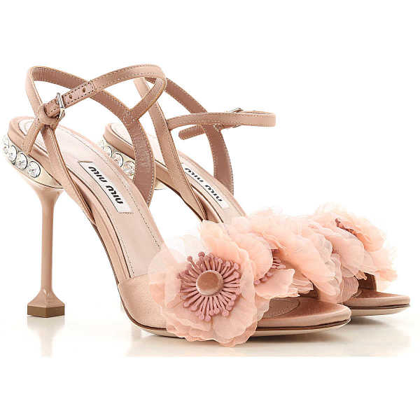 Miu Miu Sandals for Women in Outlet Pink Canada - GOOFASH - Womens SANDALS