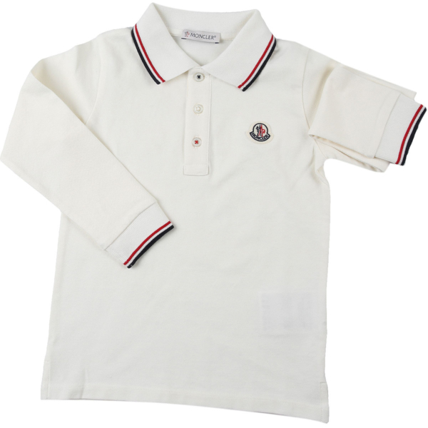 Moncler Baby Polo Shirt for Boys White Canada - GOOFASH - Mens POLOSHIRTS