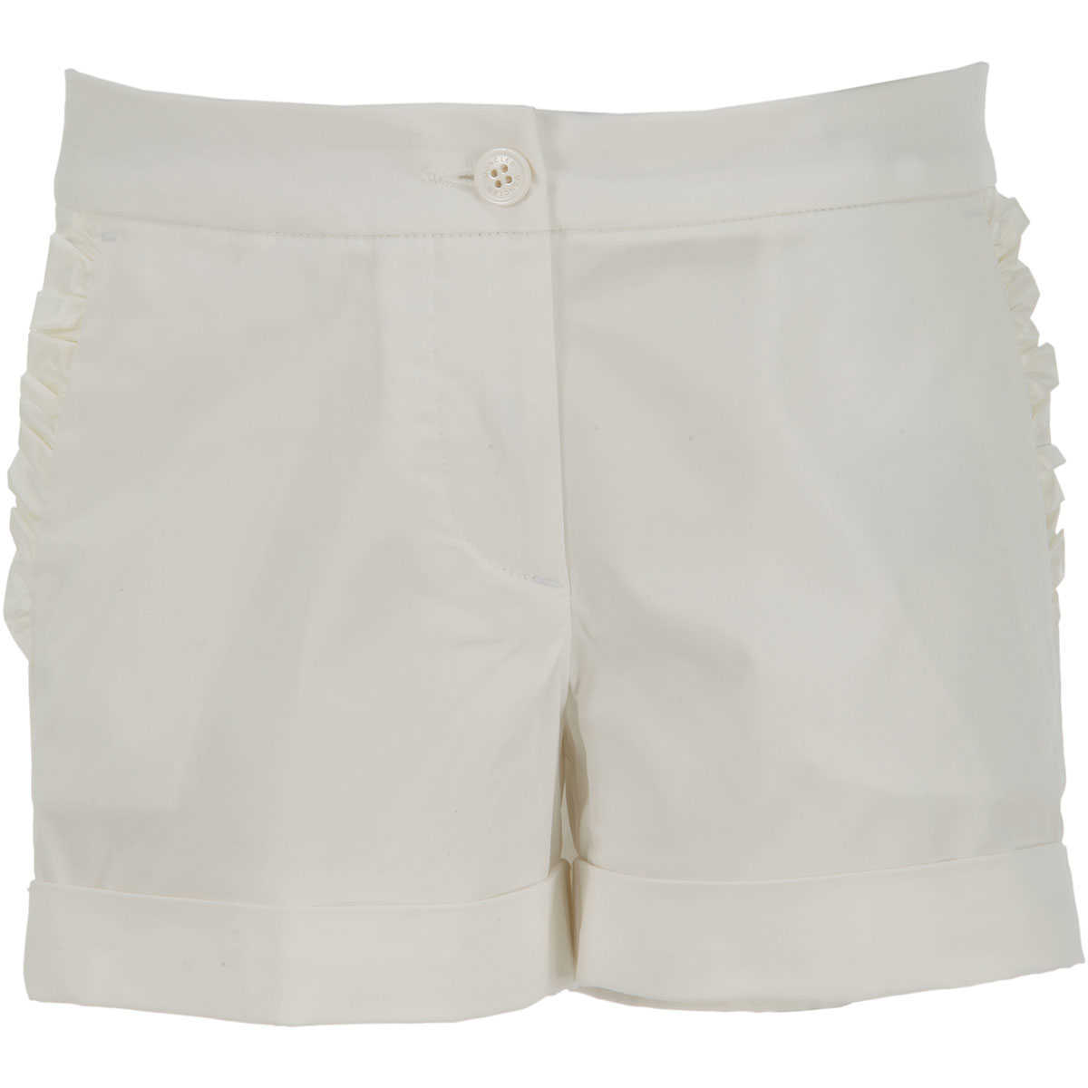 Moncler Kids Shorts for Girls in Outlet White Canada - GOOFASH - Womens SHORTS