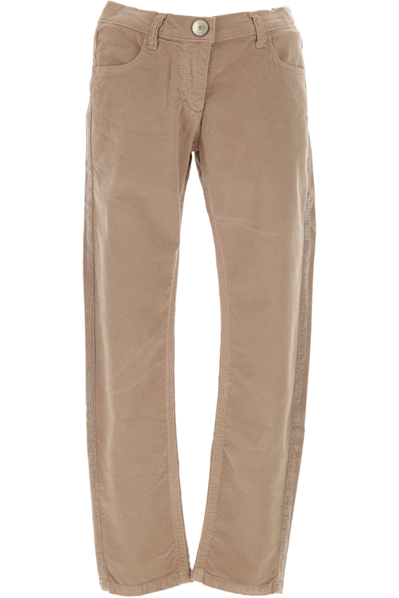 Monnalisa Kids Pants for Girls in Outlet Beige Canada - GOOFASH - Womens TROUSERS