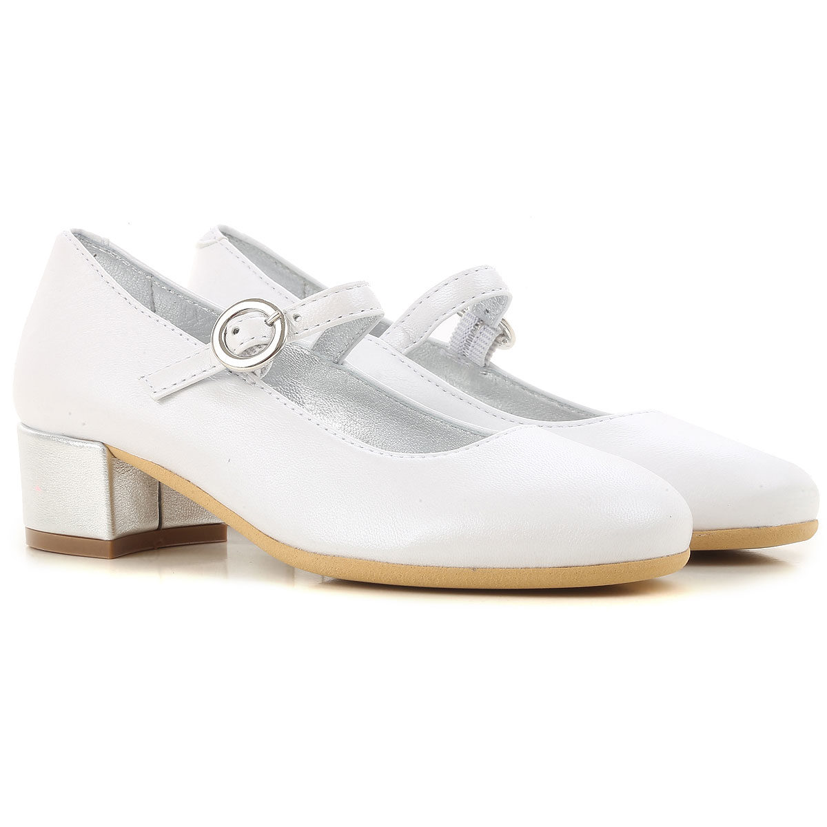 Monnalisa Kids Shoes for Girls in Outlet White Canada - GOOFASH -