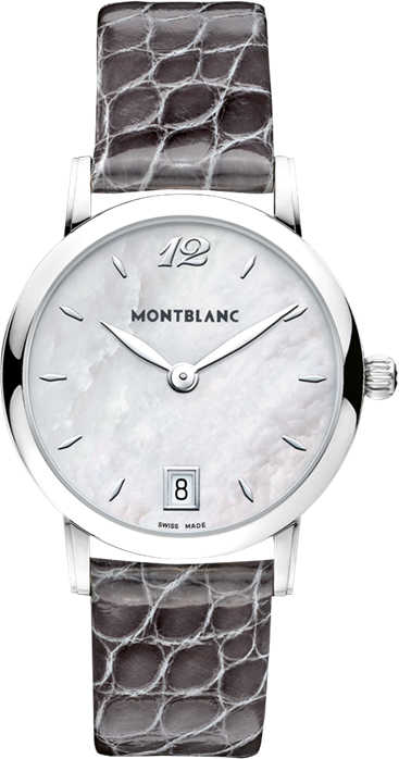 MontBlanc Star Classique Pearl White Dial Ladies Watch 108766 White Mother Of Pearl USA - GOOFASH - Womens WATCHES