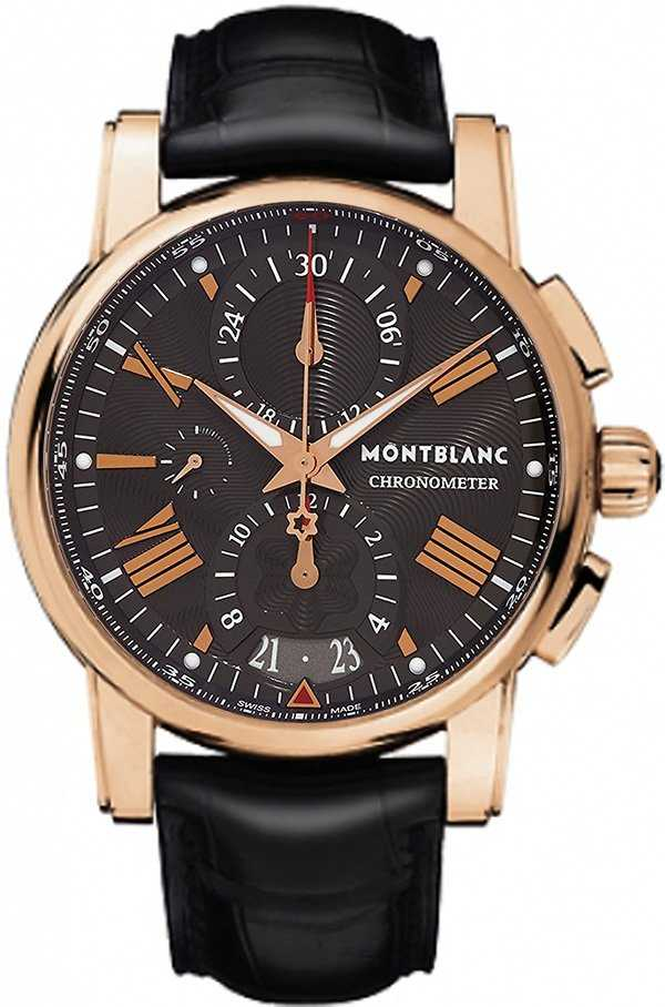 MontBlanc Star Solid Rose Gold Grey Dial Men's Watch 104275 Grey USA - GOOFASH - Mens WATCHES