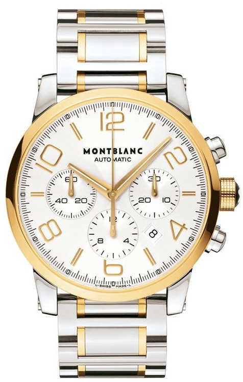MontBlanc TimeWalker Chronograph 43mm Men's Watch 107320 Silver USA - GOOFASH - Mens WATCHES