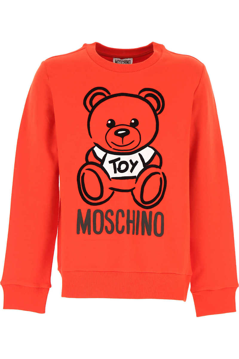 Moschino Kids Sweatshirts & Hoodies for Boys Red Canada - GOOFASH - Mens SWEATERS