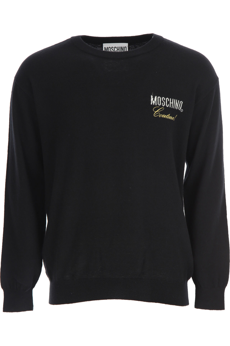 Moschino Sweater for Men Jumper Black Canada - GOOFASH - Mens SWEATERS