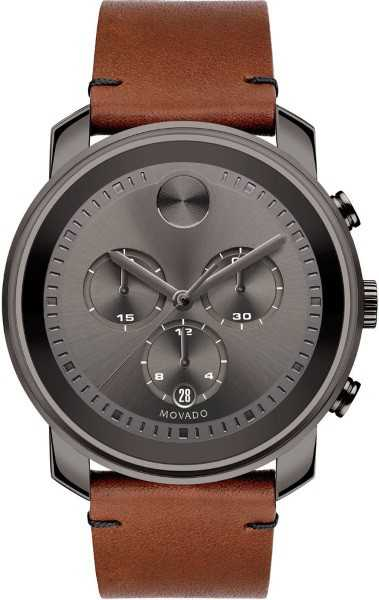 Movado Bold Chronograph Men's Watch 3600367 Grey USA - GOOFASH - Mens WATCHES