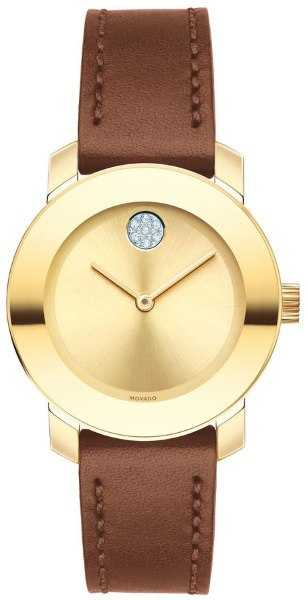 Movado Bold Gold Women's Watch 3600437 Silver USA - GOOFASH - Womens WATCHES
