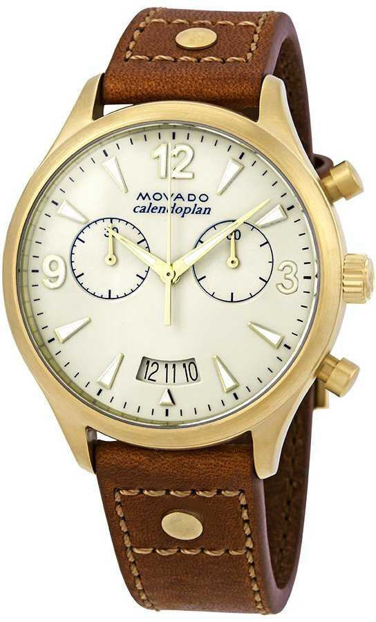 Movado Heritage Chronograph Women's Watch 3650025 Champagne USA - GOOFASH - Womens WATCHES