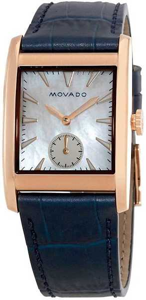 Movado Heritage Rectangle Watch 3650052 White Mother Of Pearl USA - GOOFASH - Womens WATCHES