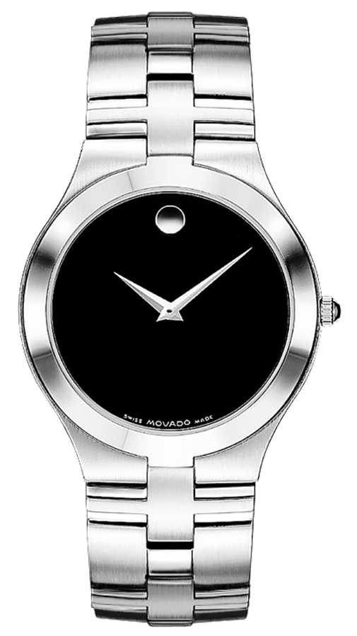 Movado Juro Black Dial Stainless Steel Men's Watch 0605023 Black USA - GOOFASH - Mens WATCHES