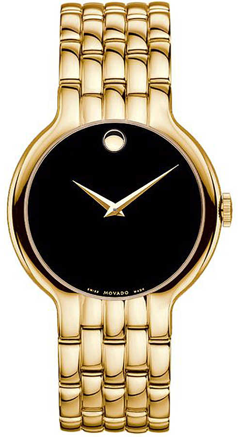 Movado Veturi Men's Watch 0606934 Black USA - GOOFASH - Mens WATCHES