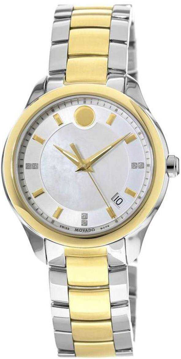 Movado Women's Watches Bellina 0606979 White Mother Of Pearl USA - GOOFASH - Womens WATCHES