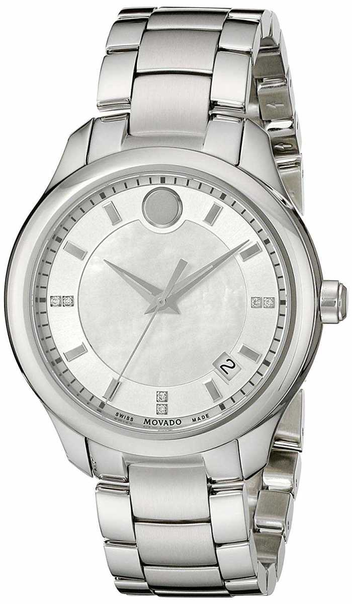 Movado Women's Watches Low Prices Bellina 0606978 White Mother Of Pearl USA - GOOFASH - Womens WATCHES