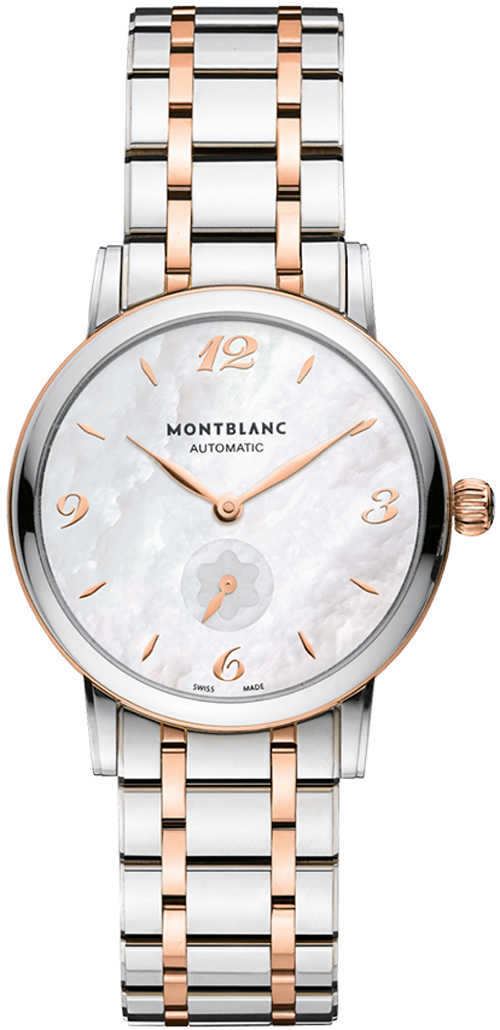 New MontBlanc Star Classique Women's Watch 107915 White Mother Of Pearl USA - GOOFASH - Womens WATCHES
