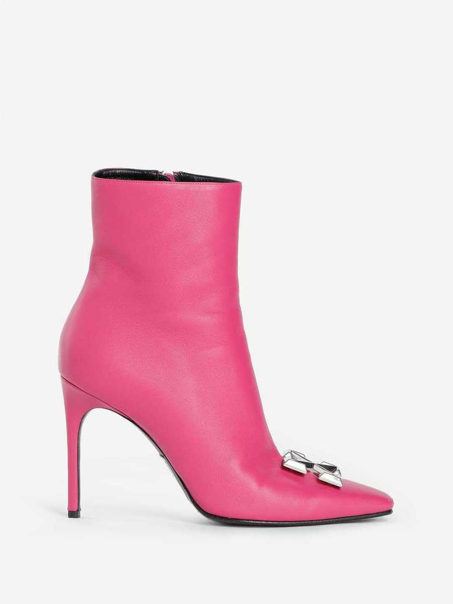 Off White C/O Virgil Abloh Boots Pink USA - GOOFASH - Womens BOOTS