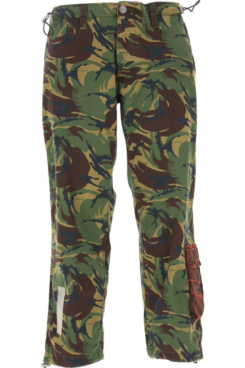 Off-White Virgil Abloh Pants for Men in Outlet camouflage Canada - GOOFASH - Mens TROUSERS