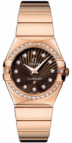 Omega Constellation Brown Dial 18k Rose Gold Luxury Watch 123.55.27.60.63.002 Brown USA - GOOFASH - Womens WATCHES