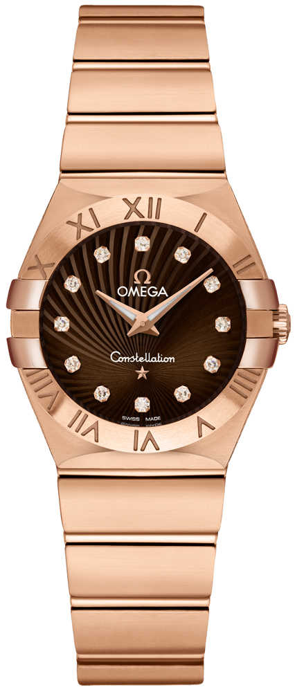 Omega Constellation Brown & Diamond Dial Women's Luxury Watch 123.50.27.60.63.002 Brown USA - GOOFASH - Womens WATCHES