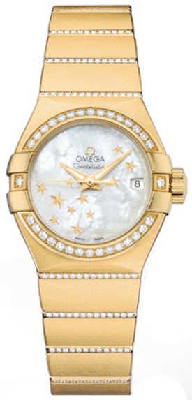 Omega Constellation Diamond Women's Watch 123.55.27.20.05.002 White Mother Of Pearl USA - GOOFASH - Womens WATCHES