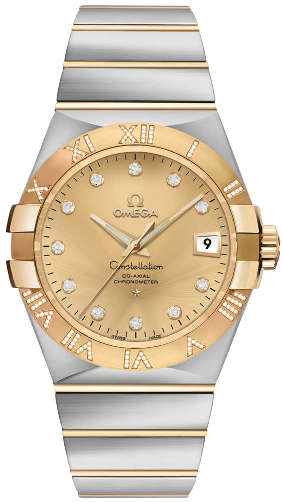 Omega Constellation Gold & Diamond Men's Watch 123.25.35.20.58.002 Gold USA - GOOFASH - Mens WATCHES
