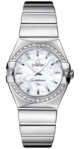 Omega Constellation Ladies Luxury Watch 123.15.27.60.05.002 White Mother Of Pearl USA - GOOFASH - Womens WATCHES
