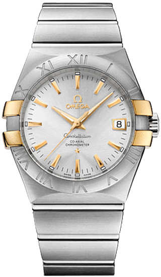 Omega Constellation Silver Dial Men's Watch 123.20.35.20.02.004 Silver USA - GOOFASH - Mens WATCHES