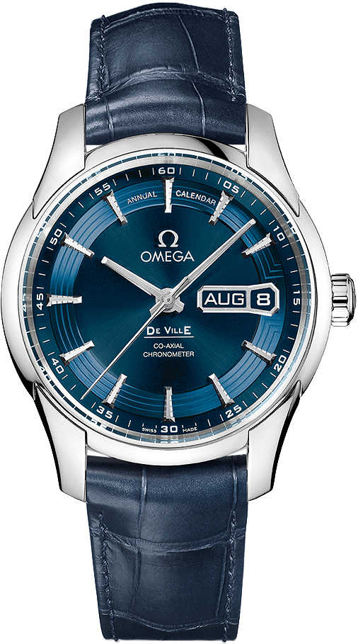 Omega De Ville Blue Dial Annual Calendar 41mm Men's Watch 431.33.41.22.03.001 Blue USA - GOOFASH - Mens WATCHES
