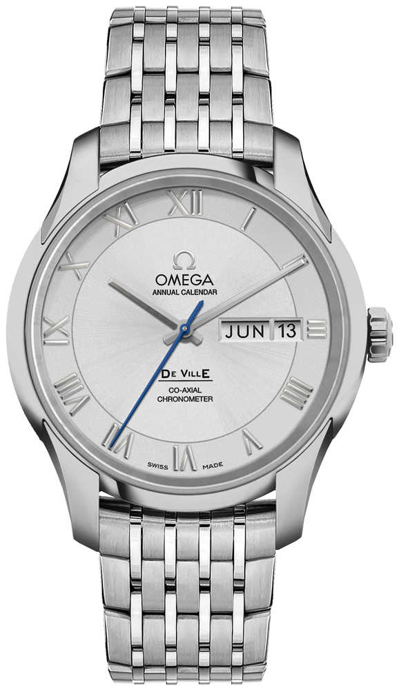 Omega De Ville Calendar Silver Dial Men's Dress Watch 431.10.41.22.02.001 Silver USA - GOOFASH - Mens WATCHES
