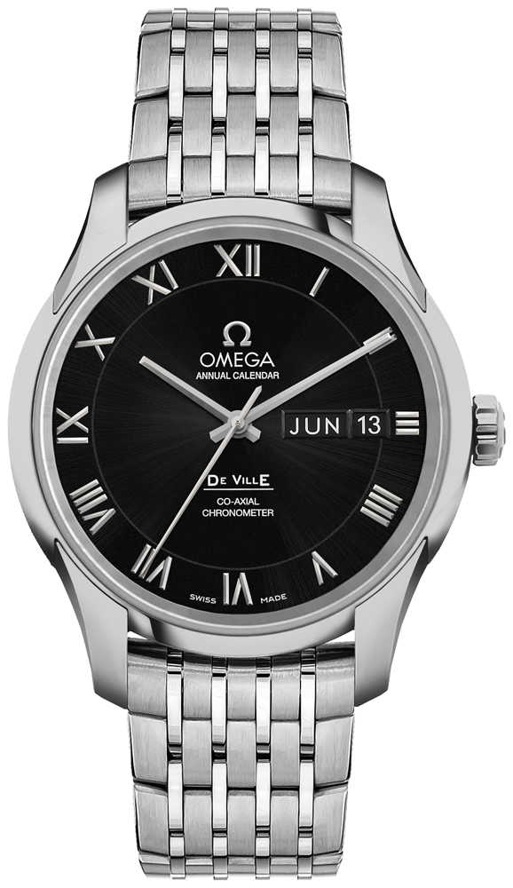 Omega De Ville Calibre 8601 Automatic Chronometer Men's Watch 431.10.41.22.01.001 Black USA - GOOFASH - Mens WATCHES
