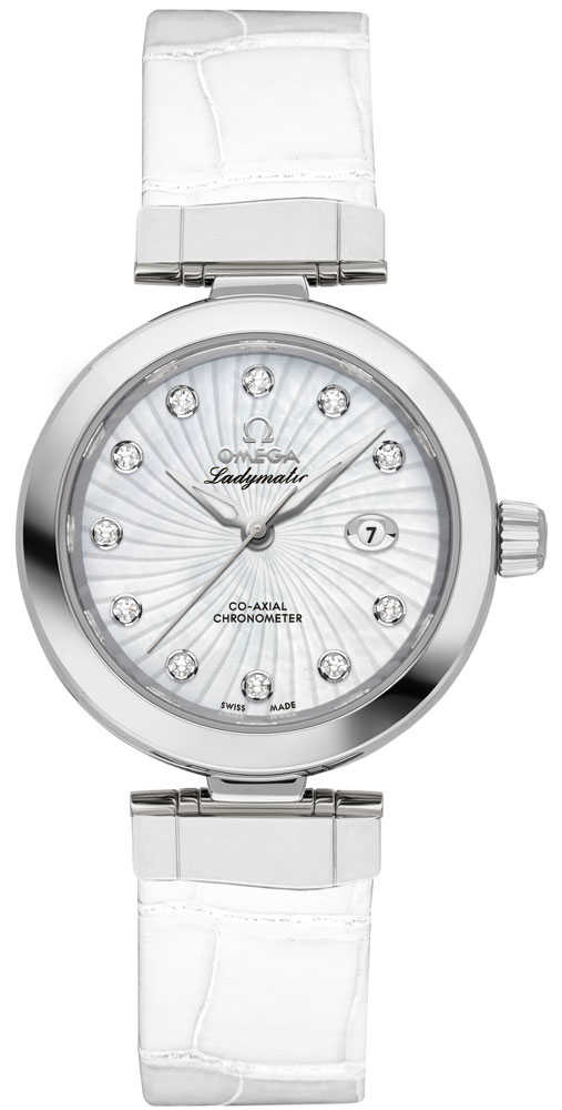Omega De Ville Ladymatic Automatic Chronometer Women's Watch 425.33.34.20.55.001 White Mother Of Pearl USA - GOOFASH - Womens WATCHES