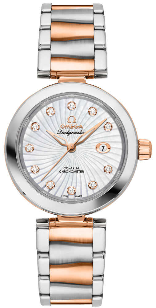 Omega De Ville Ladymatic Mother of Pearl Ladies Luxury Watch 425.20.34.20.55.001 White Mother Of Pearl USA - GOOFASH - Womens WATCHES