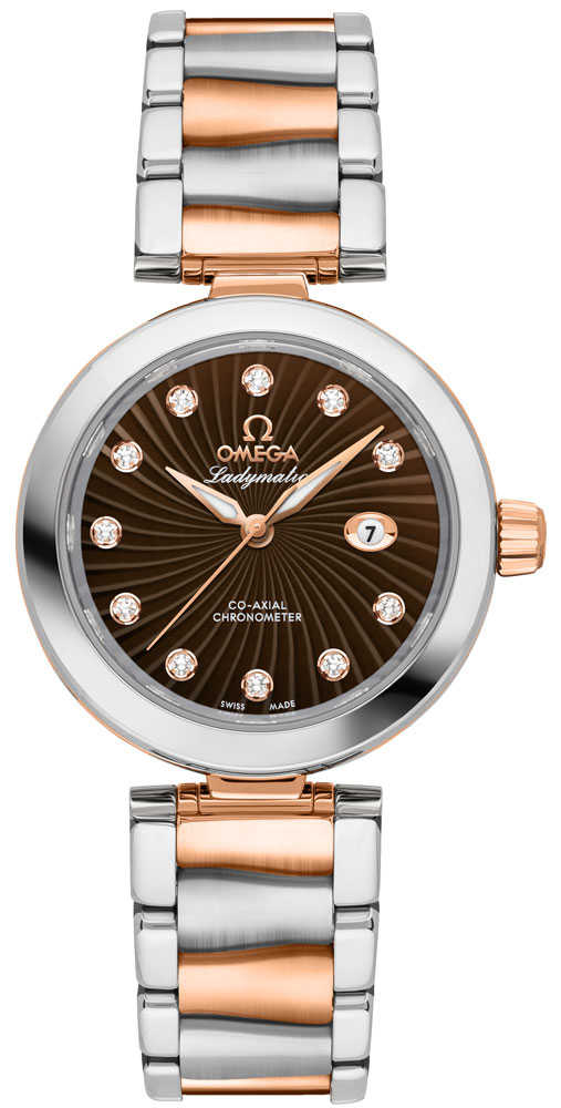 Omega De Ville Ladymatic Women's Watch 425.20.34.20.63.001 Lowest Price Brown USA - GOOFASH - Womens WATCHES