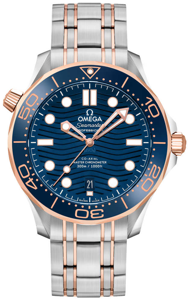 Omega Seamaster 300M 42mm Automatic Men's Watch 210.20.42.20.03.002 Blue USA - GOOFASH - Mens WATCHES