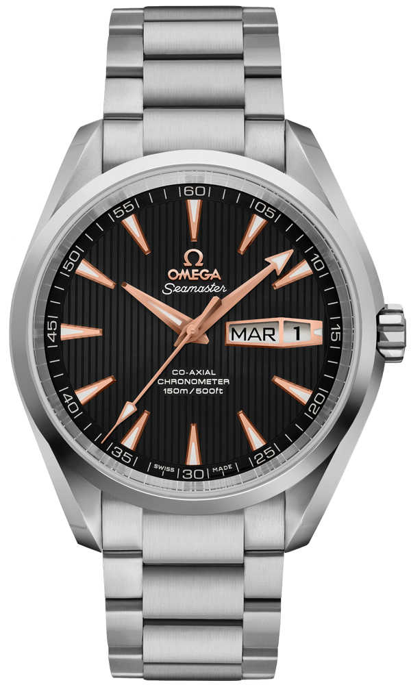 Omega Seamaster Aqua Terra Black Dial Men's Watch 231.50.43.22.01.001 Black USA - GOOFASH - Mens WATCHES