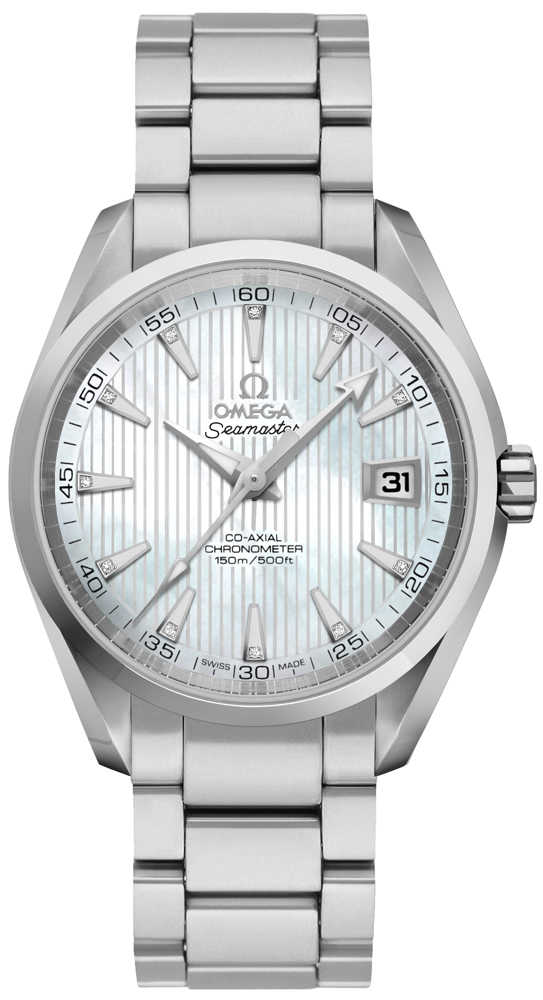 Omega Seamaster Aqua Terra Co-Axial Automatic Men's Watch 231.10.39.21.55.001 White Mother Of Pearl USA - GOOFASH - Mens WATCHES
