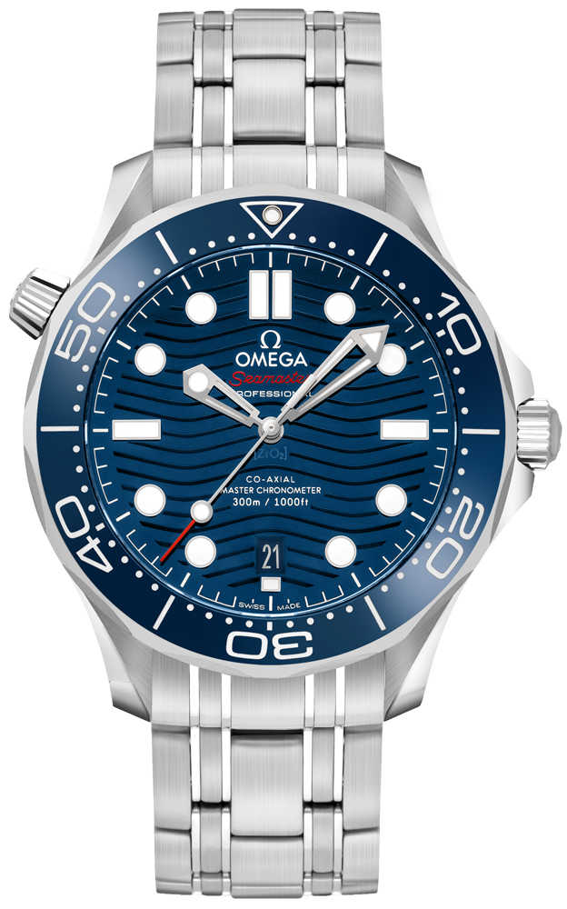 Omega Seamaster Diver 300M Blue Dial Men's Watch 210.30.42.20.03.001 Blue USA - GOOFASH - Mens WATCHES