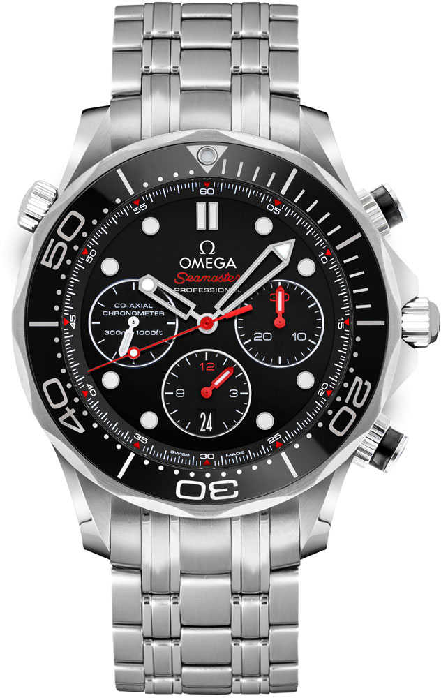Omega Seamaster Men's Automatic Diving Watch 212.30.44.50.01.001 Black USA - GOOFASH - Mens WATCHES