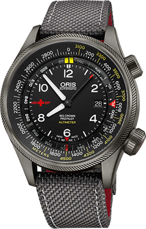 Oris Altimeter Rega Limited Edition Men's Watch 73377054264FS Black USA - GOOFASH - Mens WATCHES