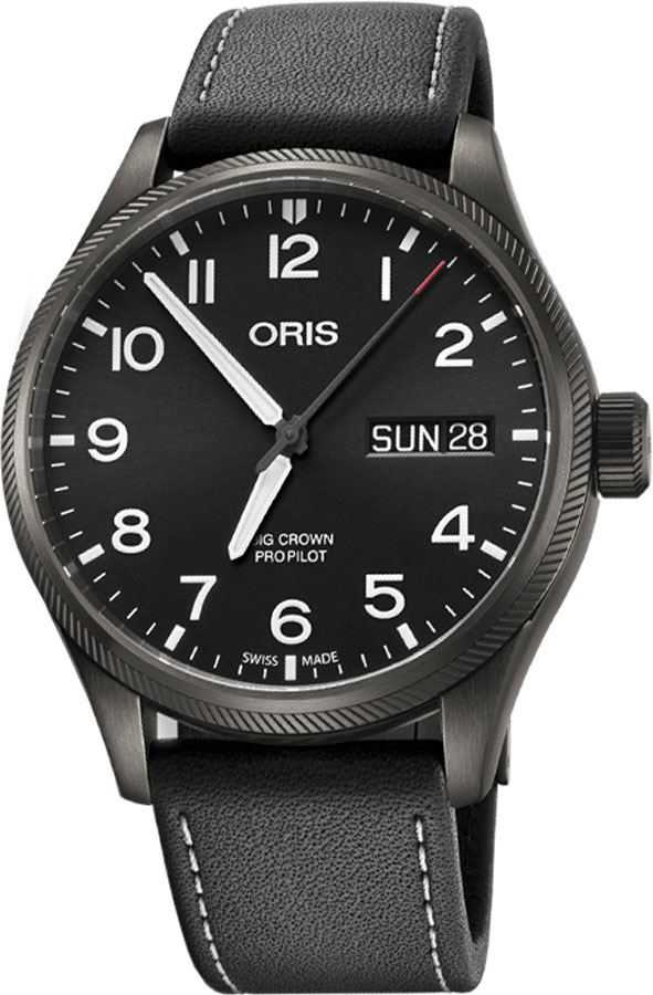 Oris Big Crown ProPilot Big Day Date Men's Watch 75276984264LS Black USA - GOOFASH - Mens WATCHES