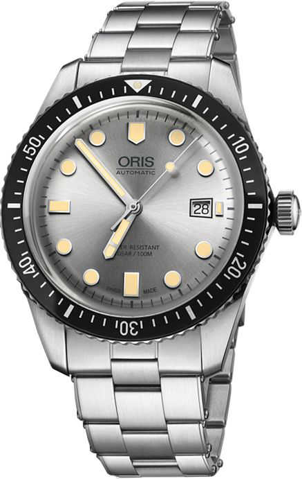 Oris Divers Sixty-Five Silver Dial Men's Watch 73377204051MB Silver USA - GOOFASH - Mens WATCHES