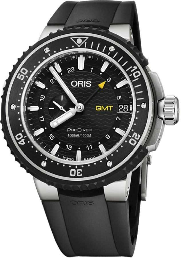 Oris ProDiver GMT Black Dial Men's Watch 74877487154RS Black USA - GOOFASH - Mens WATCHES