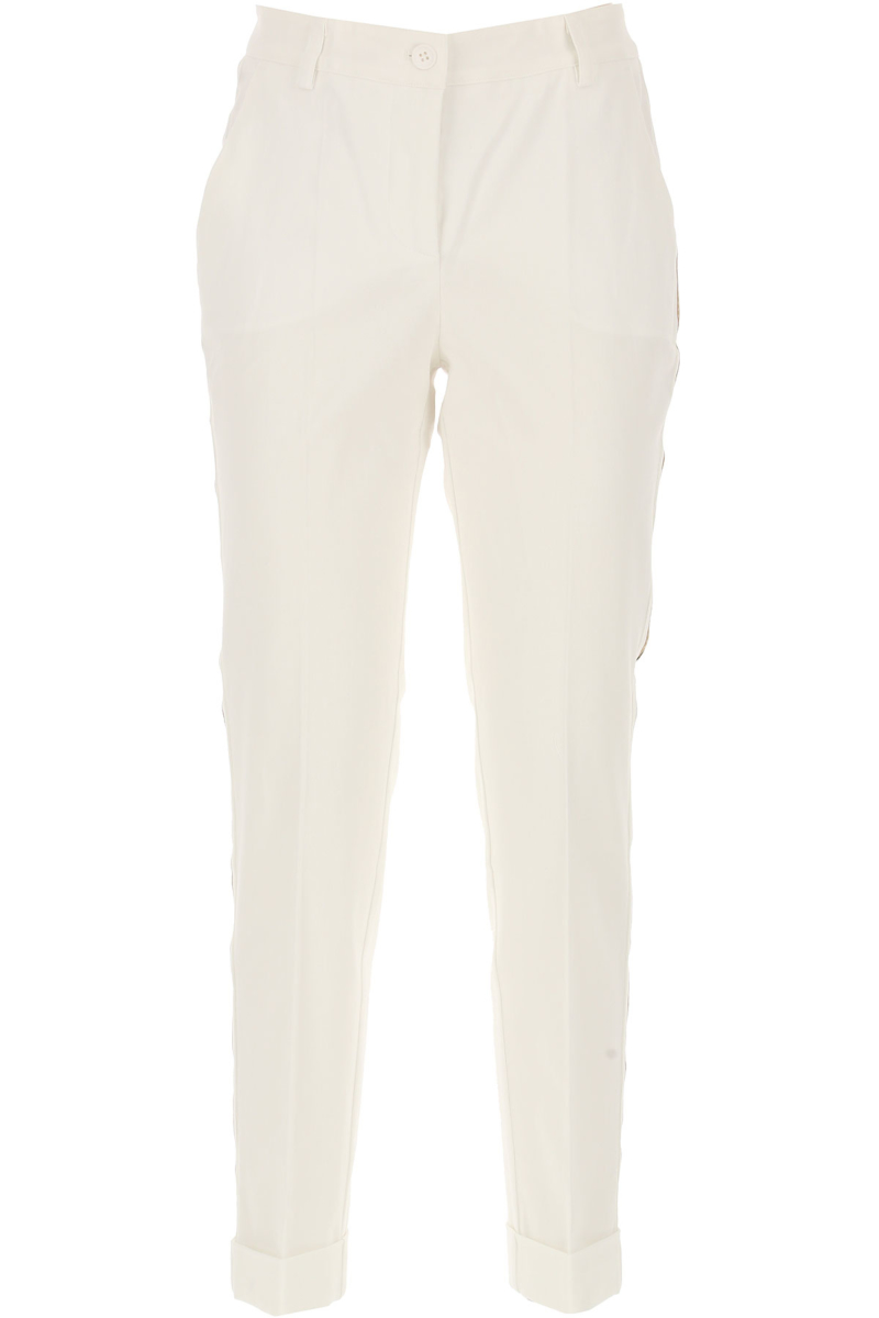 P.A.R.O.S.H. Pants for Women White Canada - GOOFASH - Womens TROUSERS