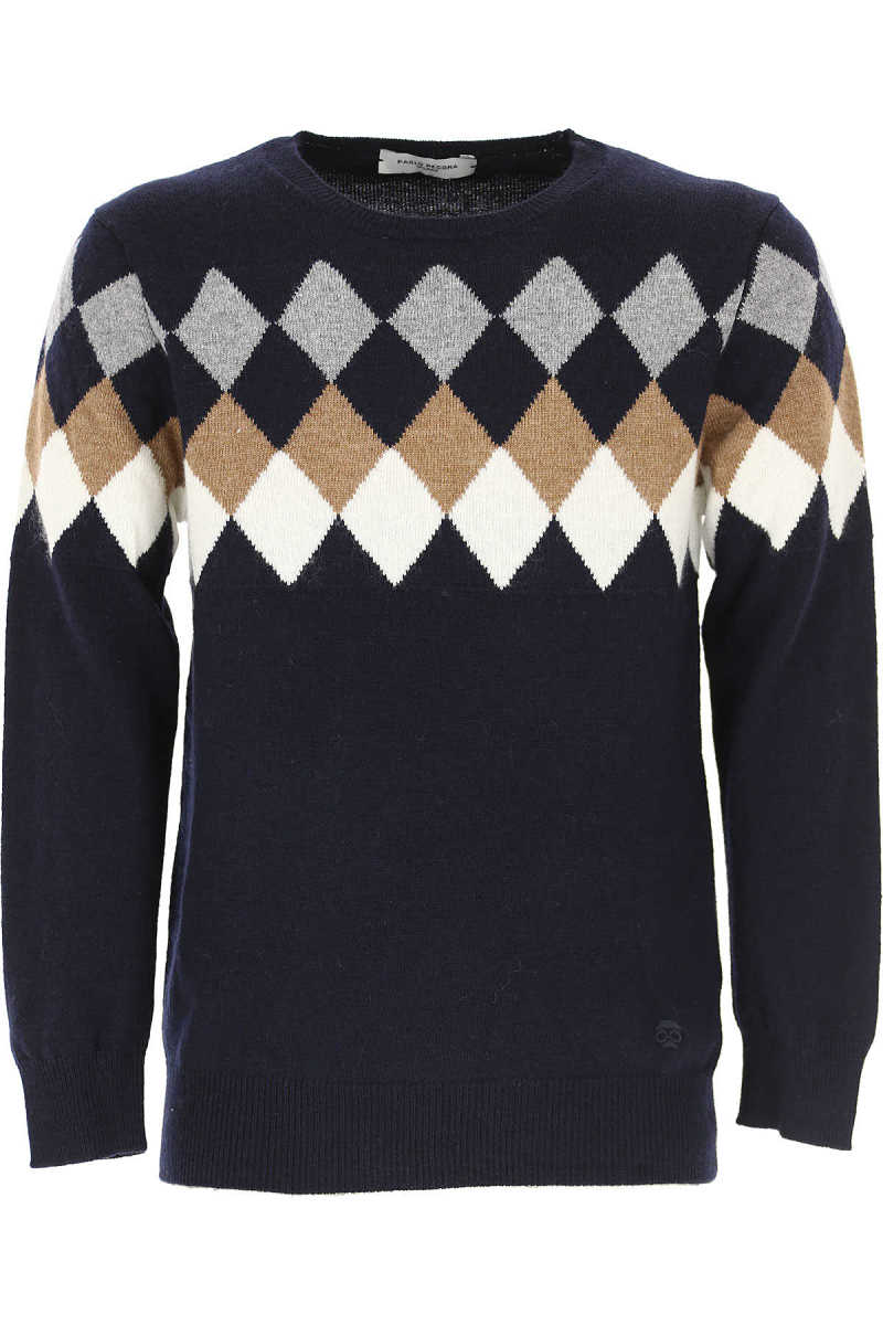 Paolo Pecora Kids Sweaters for Boys in Outlet Blue Canada - GOOFASH - Mens SWEATERS